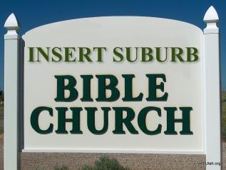 Bible Church Sign
